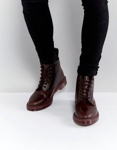 Ботинки с 6 парами люверсов Dr Martens 101 BR - Красный