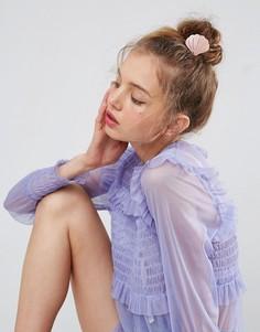 Заколка для волос в виде ракушки ASOS - Розовый