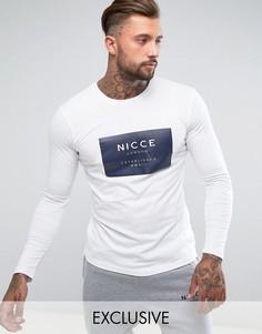 Лонгслив с логотипом Nicce London - Белый