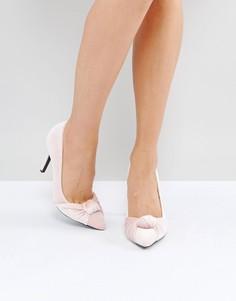 Бархатные туфли-лодочки с узелками True Decadence - Розовый