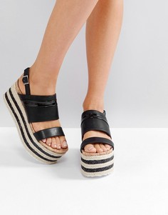 Черные сандалии-эспадрильи на платформе Glamorous - Черный