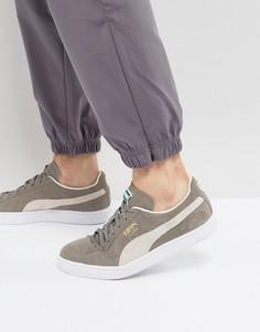 Серые классические кроссовки из замши Puma 35263466 - Серый