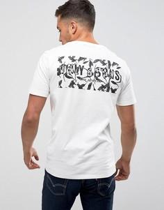 Футболка с принтом и логотипом на спине Only & Sons - Белый
