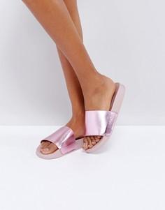 Розовые сандалии металлик Glamorous - Розовый