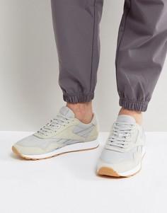 Серые кроссовки из нейлона и кожи Reebok Classic HS BD6004 - Серый
