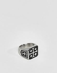 Кольцо с печаткой Seven London - Серебряный