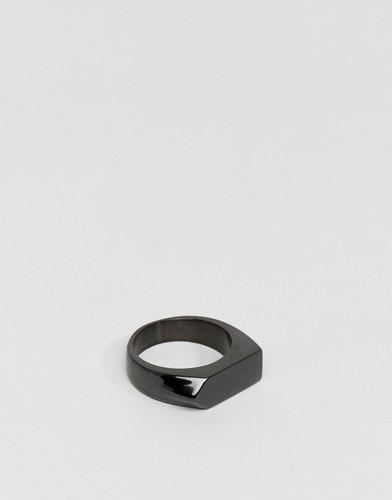 Черное кольцо Seven London - Черный