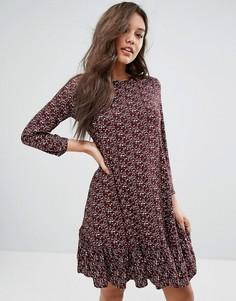 Платье с заниженной талией и длинными рукавами Y.A.S - Фиолетовый