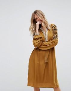 Платье с вышивкой Y.A.S - Желтый