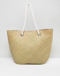 Соломенная пляжная сумка South Beach - Бежевый