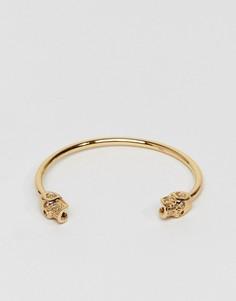 Браслет-манжета с черепом Seven London - Золотой