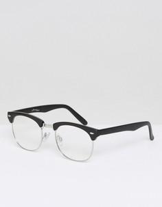 Черные очки в стиле ретро с прозрачными стеклами Jeepers Peepers - Черный