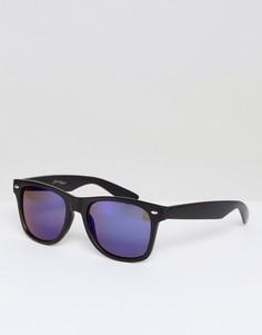 Квадратные черные солнцезащитные очки Jeepers Peepers - Черный
