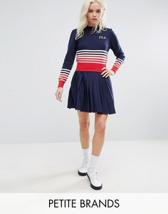 Плиссированная мини-юбка Fila Petite - Темно-синий
