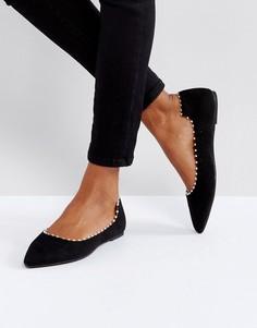 Черные туфли с перламутровым эффектом Lost Ink - Черный