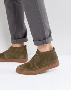 Замшевые ботинки чукка цвета хаки Selected Homme Dempsey - Зеленый