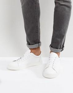 Белые кожаные кроссовки Selected Homme David - Белый