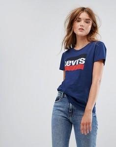 Темно-синяя футболка с логотипом Levis Vintage - Темно-синий Levis®
