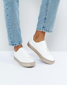 Кроссовки с подошвой цвета розового золота New Look - Белый
