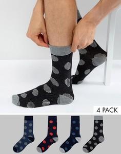4 пары носков в горошек Jack & Jones - Мульти