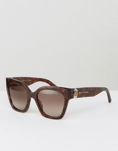 Черепаховые солнцезащитные очки кошачий глаз с логотипом Marc Jacobs - Коричневый