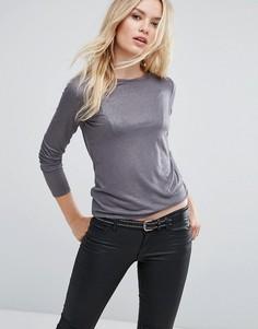 Топ цвета металлик Sisley - Серый
