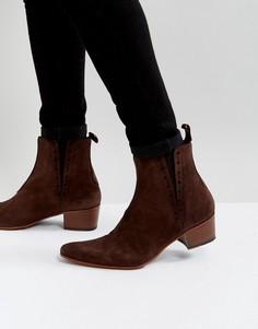 Коричневые замшевые ботинки челси Jeffery West Murphy - Коричневый