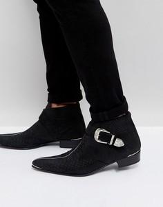 Черные ботинки с пряжкой Jeffery West Adam Ant - Черный