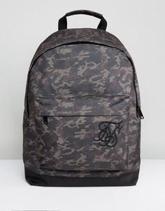 Рюкзак с камуфляжным принтом SikSilk - Зеленый