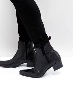 Черные кожаные ботинки челси Jeffery West Murphy - Черный