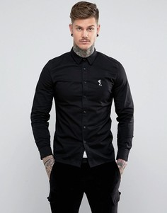 Узкая эластичная рубашка Religion - Черный