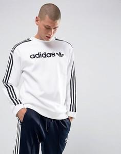 Белый свитшот с круглым вырезом adidas Originals Adicolor BK7466 - Белый