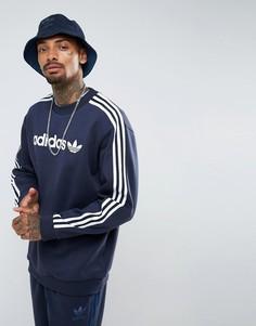 Темно-синий свитшот с круглым вырезом adidas Originals Adicolor AZ8128 - Темно-синий