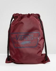 Бордовый рюкзак с затягивающимся шнурком Vans - Красный