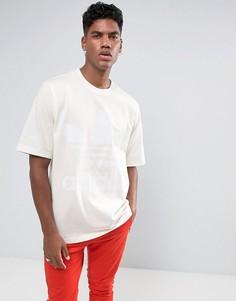 Свободная белая футболка adidas Originals BR6865 - Белый
