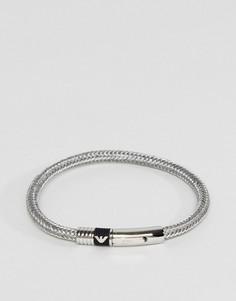 Серебристый браслет Emporio Armani - Серебряный