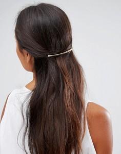 Расческа для волос с металлической планкой ASOS - Золотой