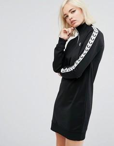 Спортивное платье в стиле ретро Fred Perry - Черный