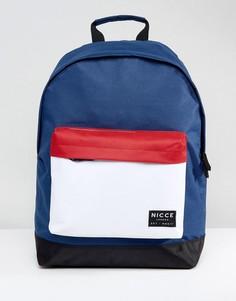Темно-синий рюкзак колор блок Nicce - Темно-синий