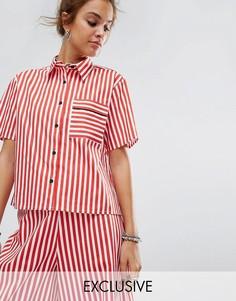 Свободная рубашка с кантом на одном кармане Reclaimed Vintage Inspired - Красный