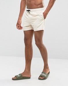 Укороченные шорты для плавания песочного цвета ASOS - Бежевый