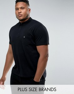 Футболка-поло с логотипом на кармане Noose & Monkey PLUS - Черный