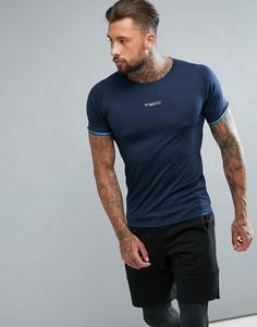 Спортивная футболка из быстросохнущей ткани Jack & Jones - Темно-синий