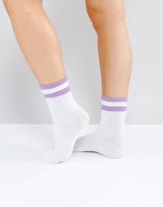 Спортивные носки с полосками Monki - Фиолетовый