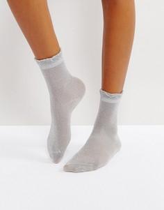 Носки с металлизированной нитью Monki - Серебряный
