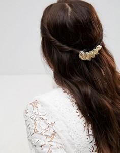 Заколка для волос с листьями ASOS - Золотой