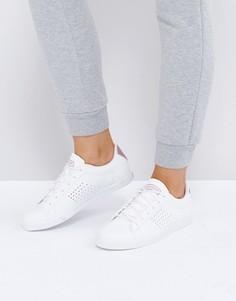 Низкие кроссовки белого и розово-золотистого цвета Le Coq Sportif Agate - Белый