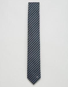 Шелковый галстук в полоску Calvin Klein - Синий