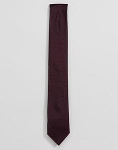 Шелковый галстук с цветочным узором Calvin Klein - Красный