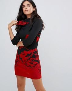 Платье со свободной горловиной Pussycat London - Черный